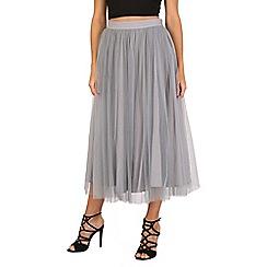 Jolie Moi - Grey tulle midi prom skirt