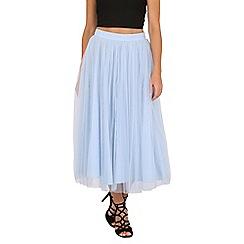 Jolie Moi - Blue tulle midi prom skirt