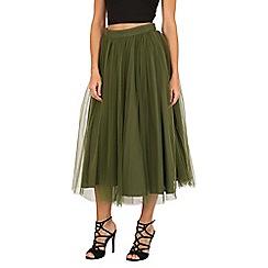 Jolie Moi - Green tulle midi prom skirt