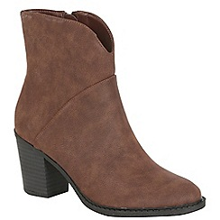 Betsy - Brown heeled cowboy boot