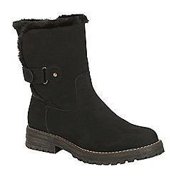 Keddo - Black heel strap biker boot