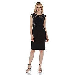 Roman Originals - Black lace jersey dress