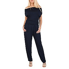 Mela - Navy cowl neck jumpsuit