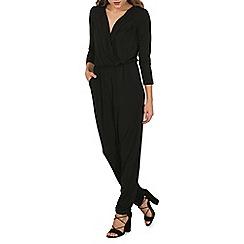 Mela - Black v-neck jumpsuit