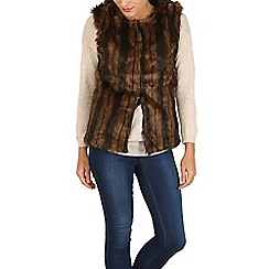 Mela - Brown faux fur gilet