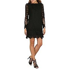 Mela - Black lace detail dress