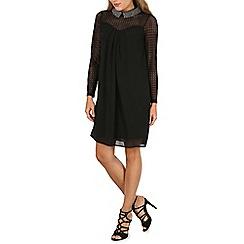 Mela - Black beaded collar dress
