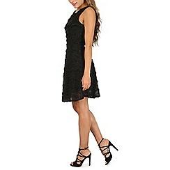 Mela - Black 3d tinsel dress