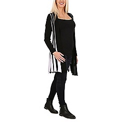 Izabel London - Black long sleeve monochrome knitted cardigan