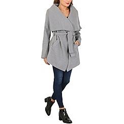 Izabel London - Light grey shawl collar jacket