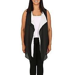 Samya - Black longline waterfall waistcoat