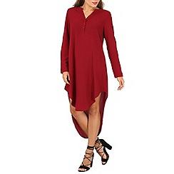 Stella Morgan - Dark purple long sleeve oversize dress