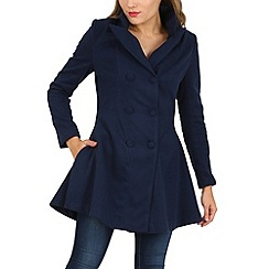 Cutie - Navy double breasted flared coat