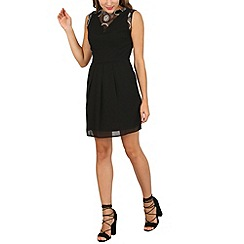 Cutie - Black lace v neck dress