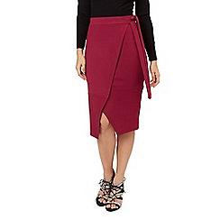 Jane Norman - Plum flawless wrap skirt