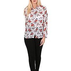 Tenki - White flower print shirt top