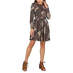Tenki - Brown paisley print dress
