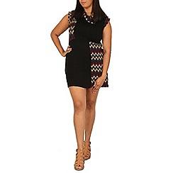 Samya - Red aztec printed tunic dress