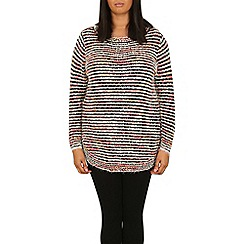 Samya - Black ribbed smudge jumper