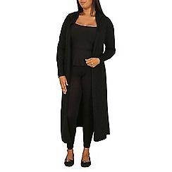 Samya - Black knitted maxi cardigan