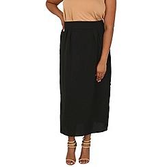 Samya - Black pleat waist maxi skirt