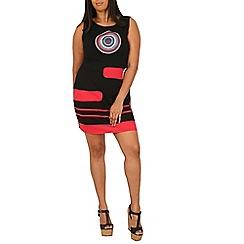 Samya - Black circle print dress