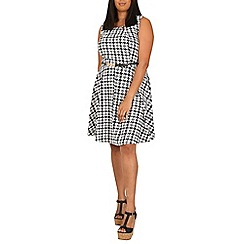 Samya - Black cut-out detail belted dress