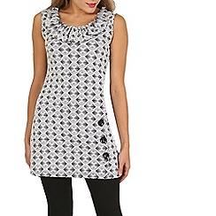 Izabel London - White geometric collar detail dress