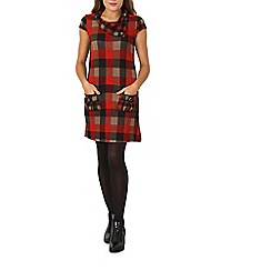 Izabel London - Red checked tunic dress