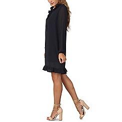 Izabel London - Navy frill neck shift dress