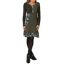 Izabel London - Green patch work knitted dress