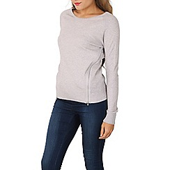 Izabel London - Grey long sleeve pullover