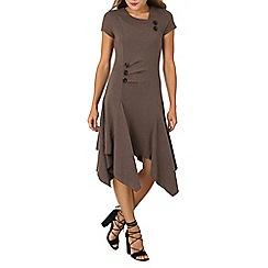 Izabel London - Light grey button detail tunic dress
