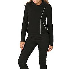 Izabel London - Black cotton biker jacket
