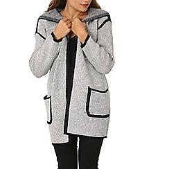 Izabel London - Light grey oversize pocketed cardigan