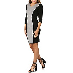 Izabel London - Grey bodycon knitted dress