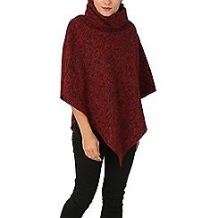 Izabel London - Red tweed poncho