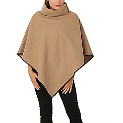 Izabel London - Beige side zip poncho