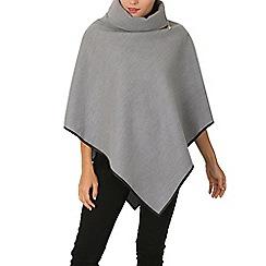 Izabel London - Grey side zip poncho