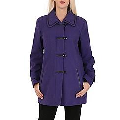 David Barry - Purple faux leather trim jacket
