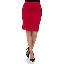 Roman Originals - Red ponte straight skirt