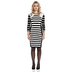 Roman Originals - Black stripe knitted dress