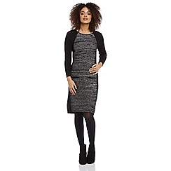 Roman Originals - Black contrast knit dress