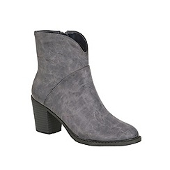 Betsy - Grey heeled cowboy boot grey