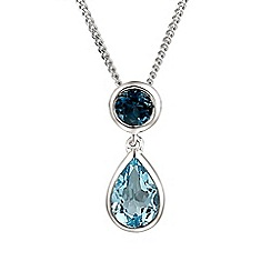 Amore Argento - Blue sterling silver duo necklace