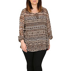 Emily - Cream bishop sleeve gypsy top