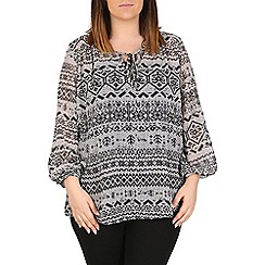 Emily - Black bishop sleeve gypsy top