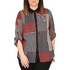 Emily - Black patch print shirt