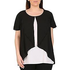 Emily - Cream ruffle overlay blouse