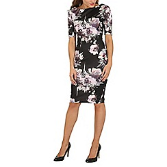 AX Paris - Black floral bodycon dress